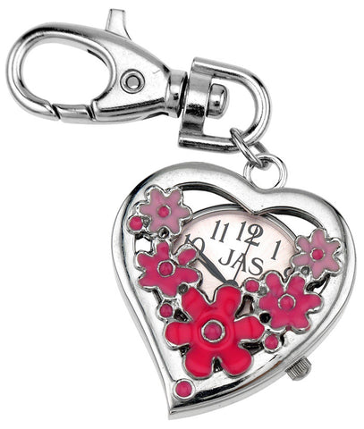 novelty fob watch - flower heart