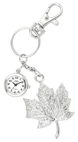novelty fob watch - leaf