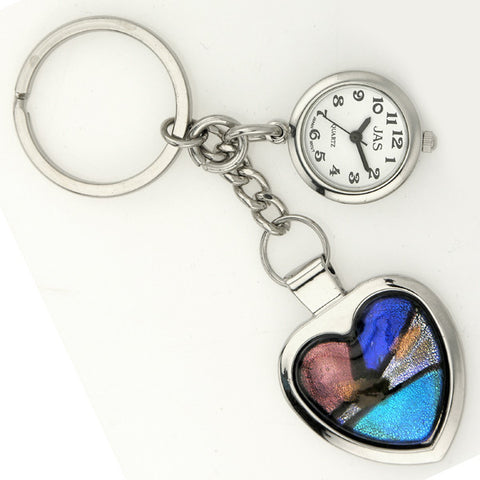 novelty fob watch - mosaic heart 2
