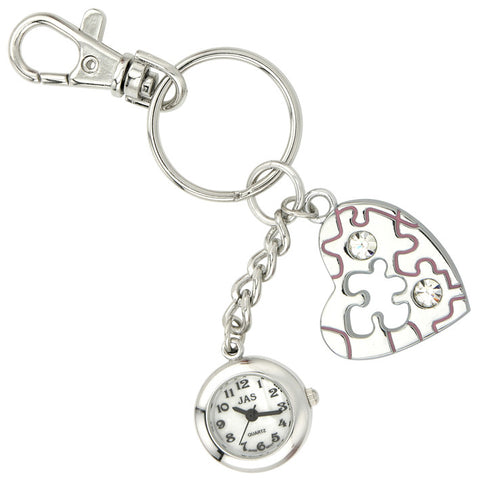 novelty fob watch - puzzle heart