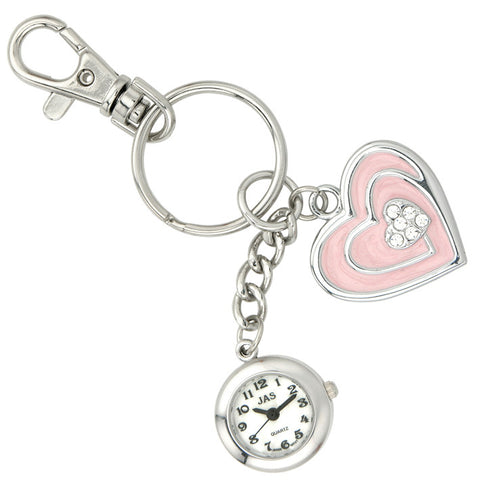 novelty fob watch - pink heart