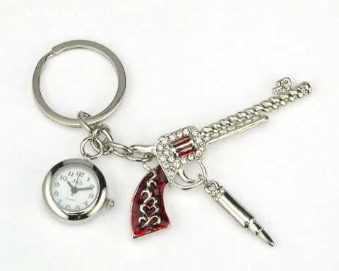 novelty fob watch - pistol