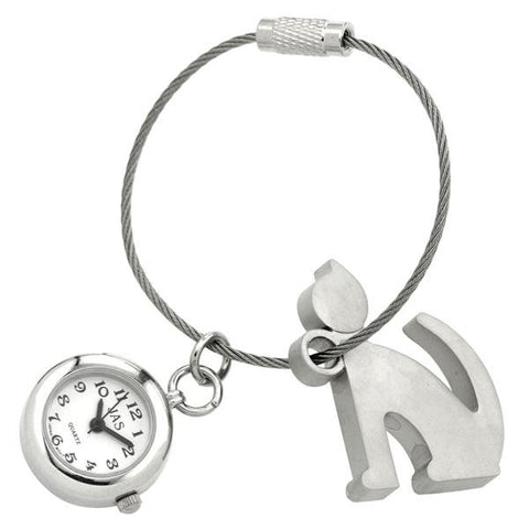 novelty fob watch - silhouette cat