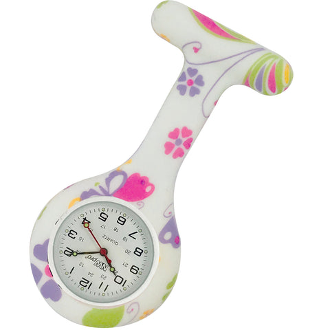 Silicone Pin-on Nurse Watch - Whimsy