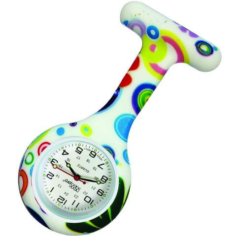 Silicone Pin-on Nurse Watch - Groovy