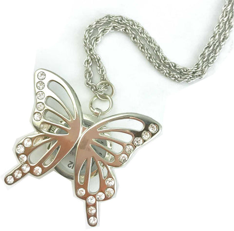 Pendant Watch - Butterfly Motif