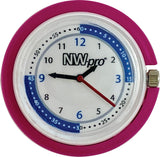 NW-pro Stethoscope Clip Style Nurse Watch with Second Hand & 24 Hour Dial - Pink
