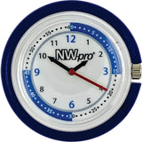 NW-pro Stethoscope Clip Style Nurse Watch with Second Hand & 24 Hour Dial - Blue