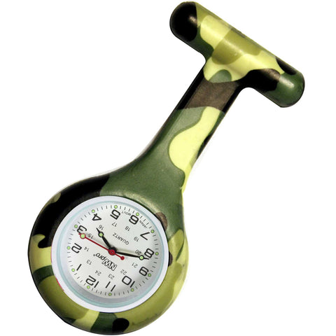 Silicone Pin-on Nurse Watch - Camouflage