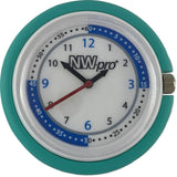 NW-pro Stethoscope Clip Style Nurse Watch with Second Hand & 24 Hour Dial - Teal