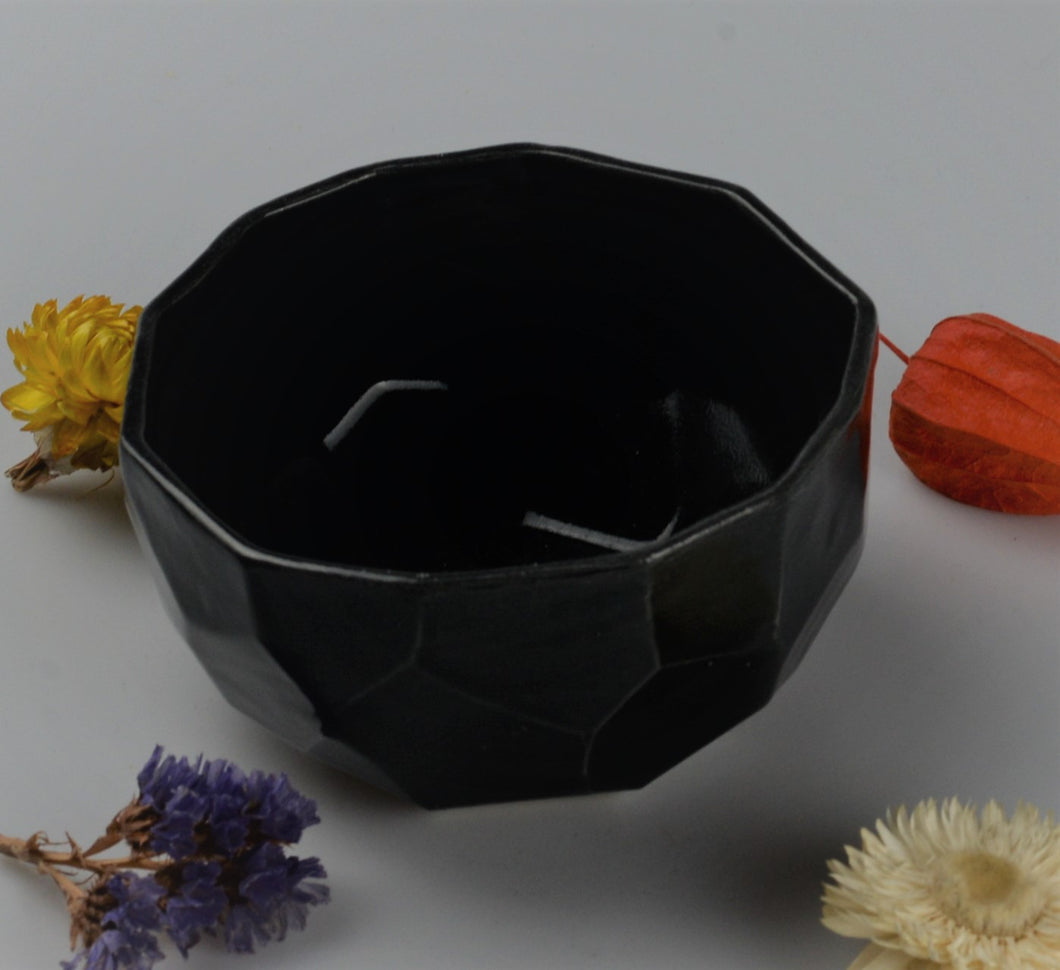 Small cubist bowl - black