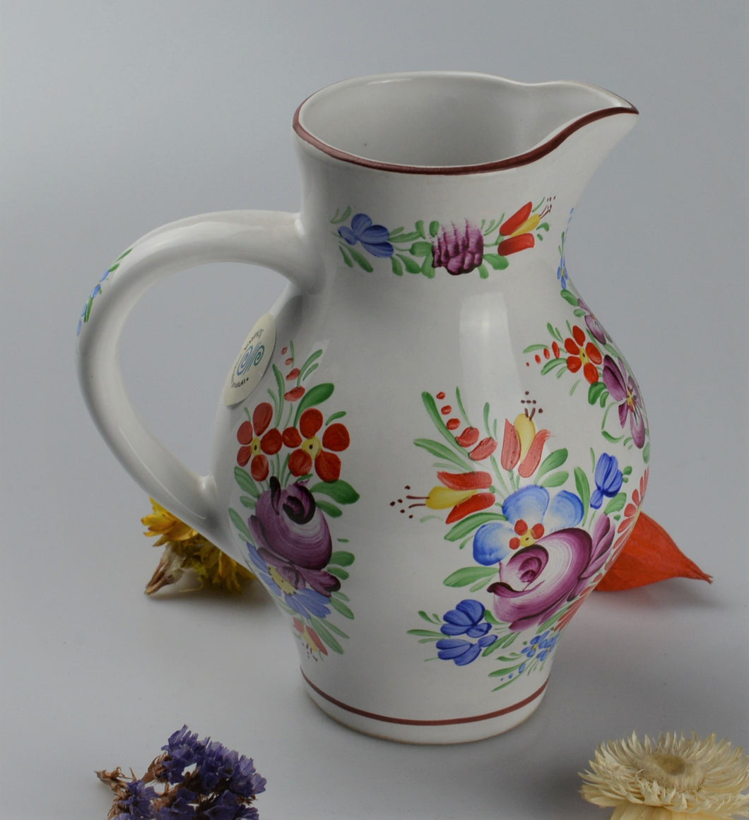Medium jug from traditionnal czech ceramic - white