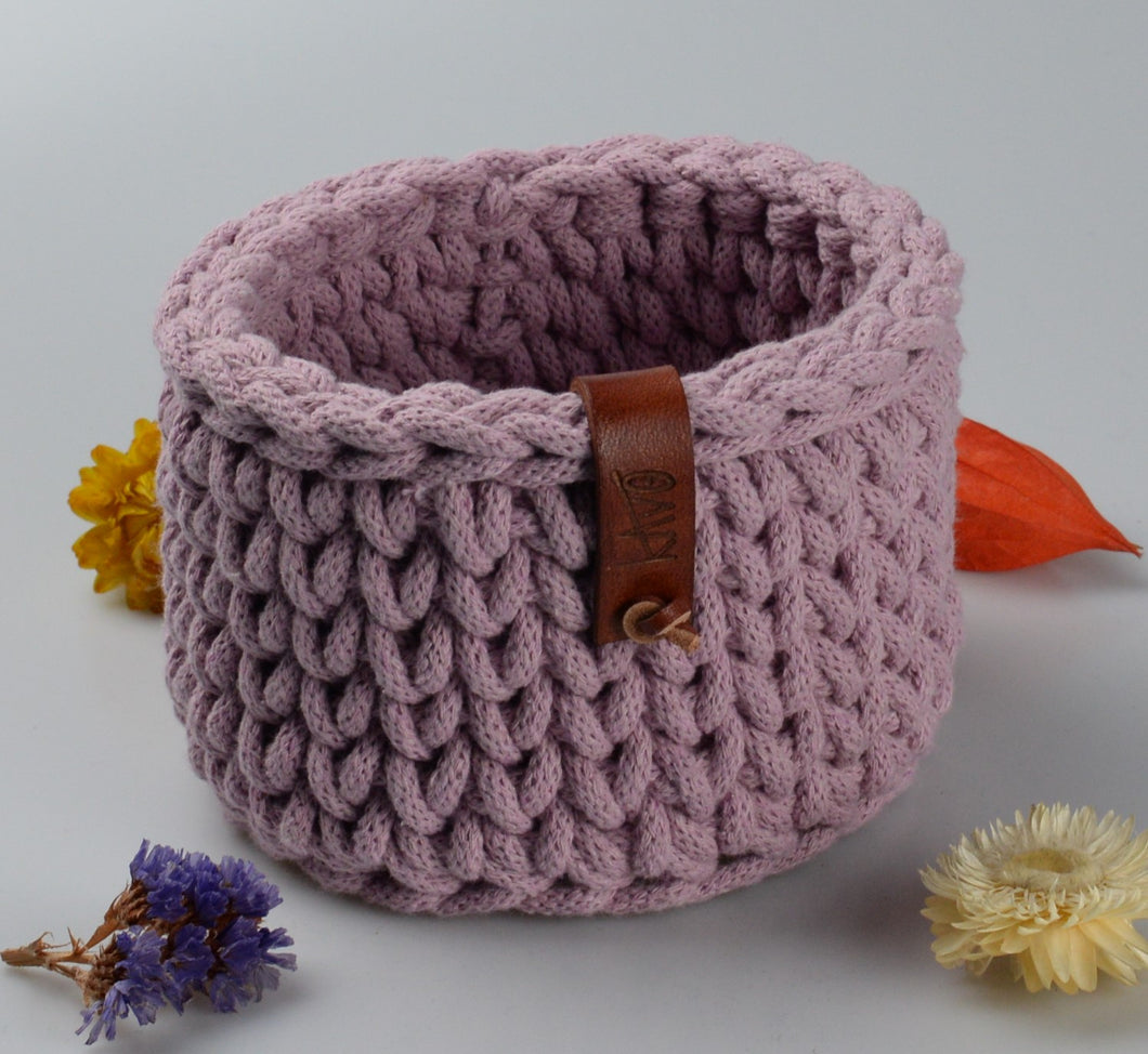 Cotton basket - small - light pink