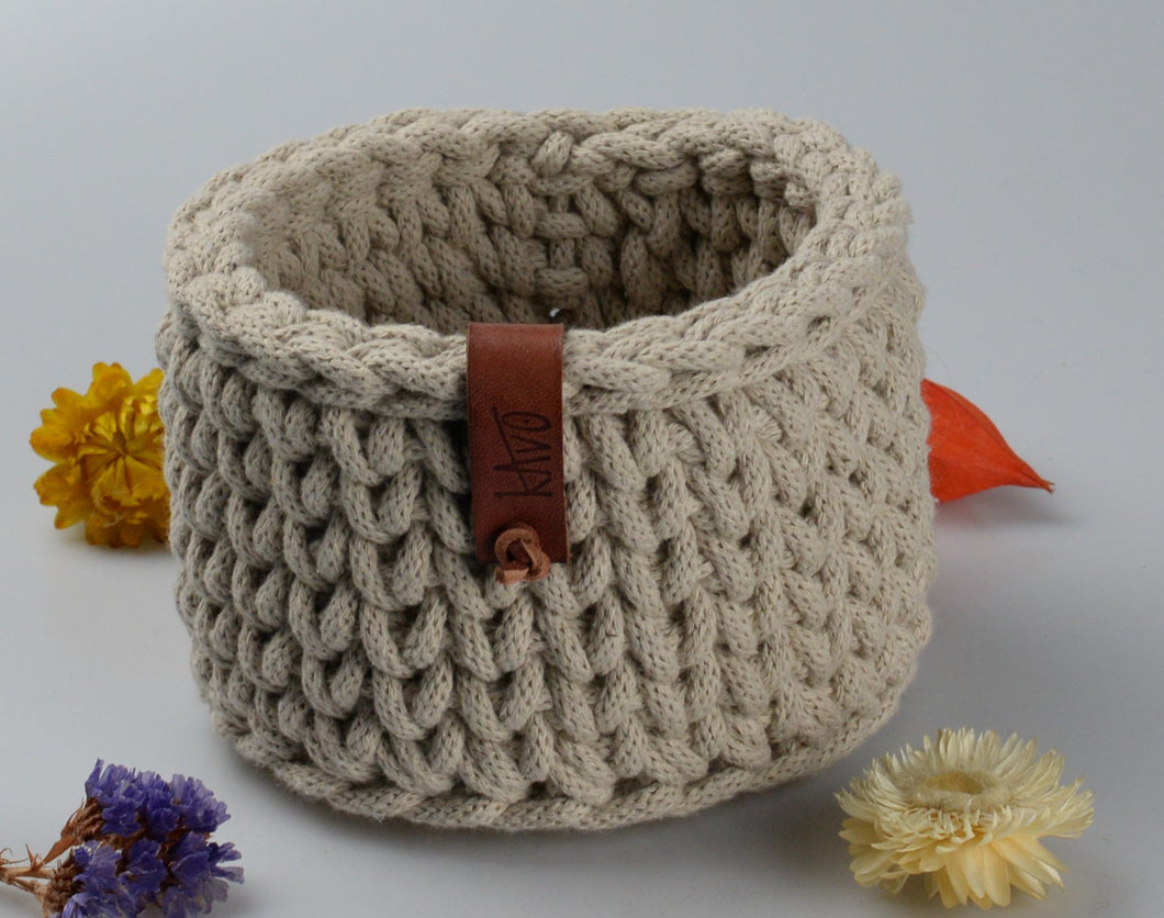 Cotton basket - small - white