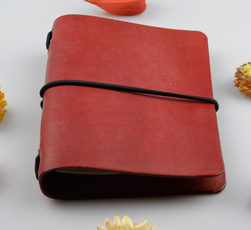 Leather cover for paper notebook - small