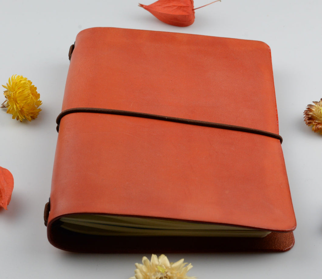 Leather cover for paper notebook - medium