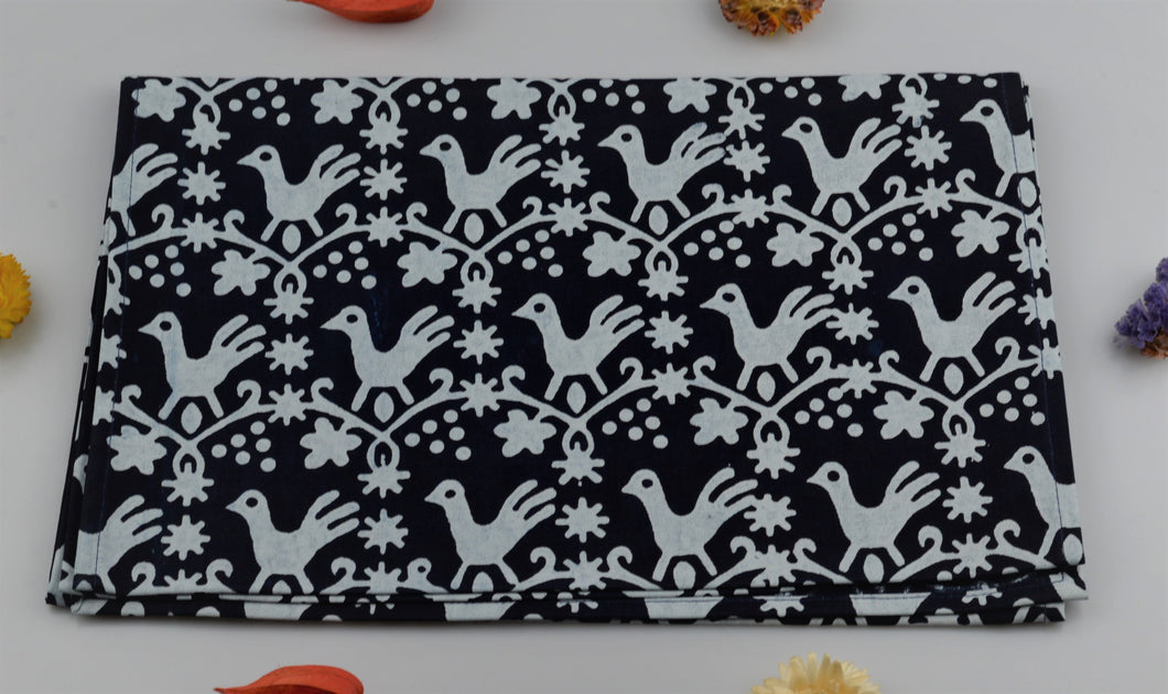 Table runner from modrotisk - 160x30cm