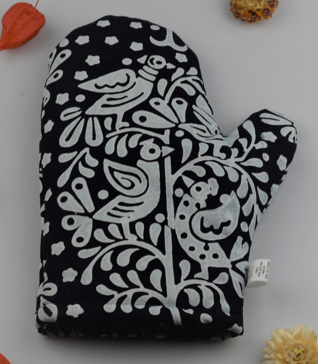Oven glove from modrotisk