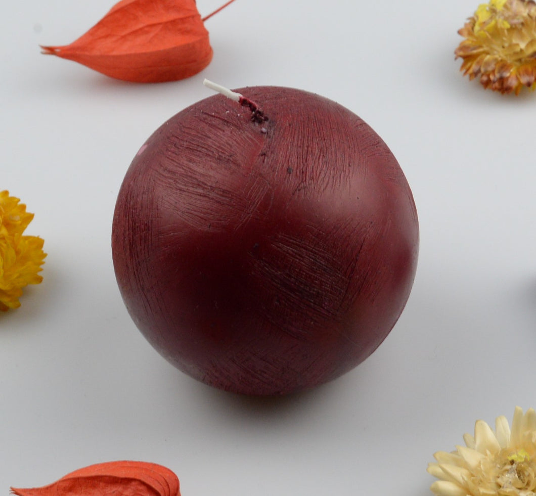 Candle sphere - 80 mm - Dark red