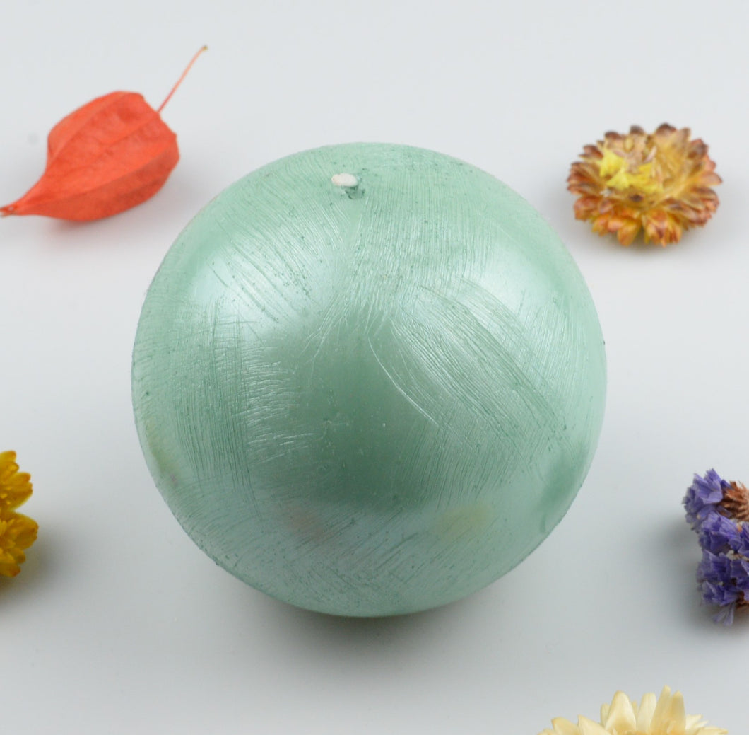 Candle sphere - 100 mm - mint