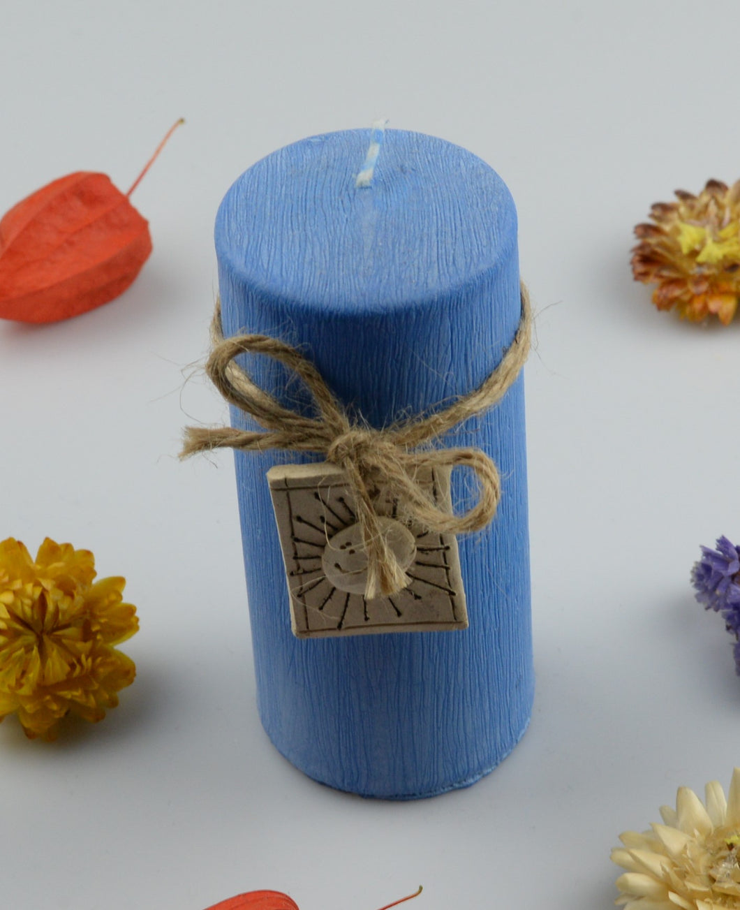Candle cylinder - 50x120 mm - blue