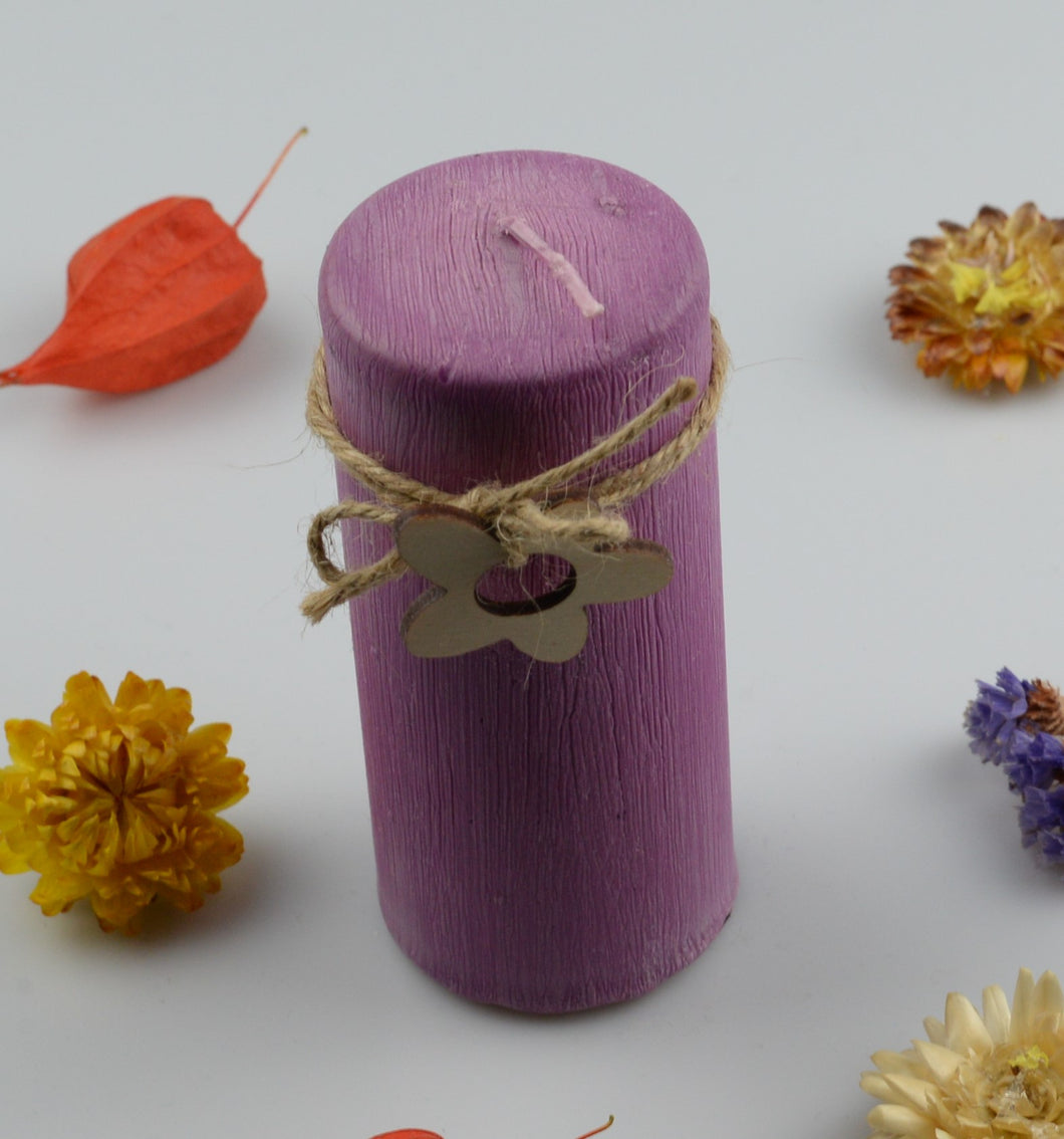 Candle cylinder - 50x120 mm - purple