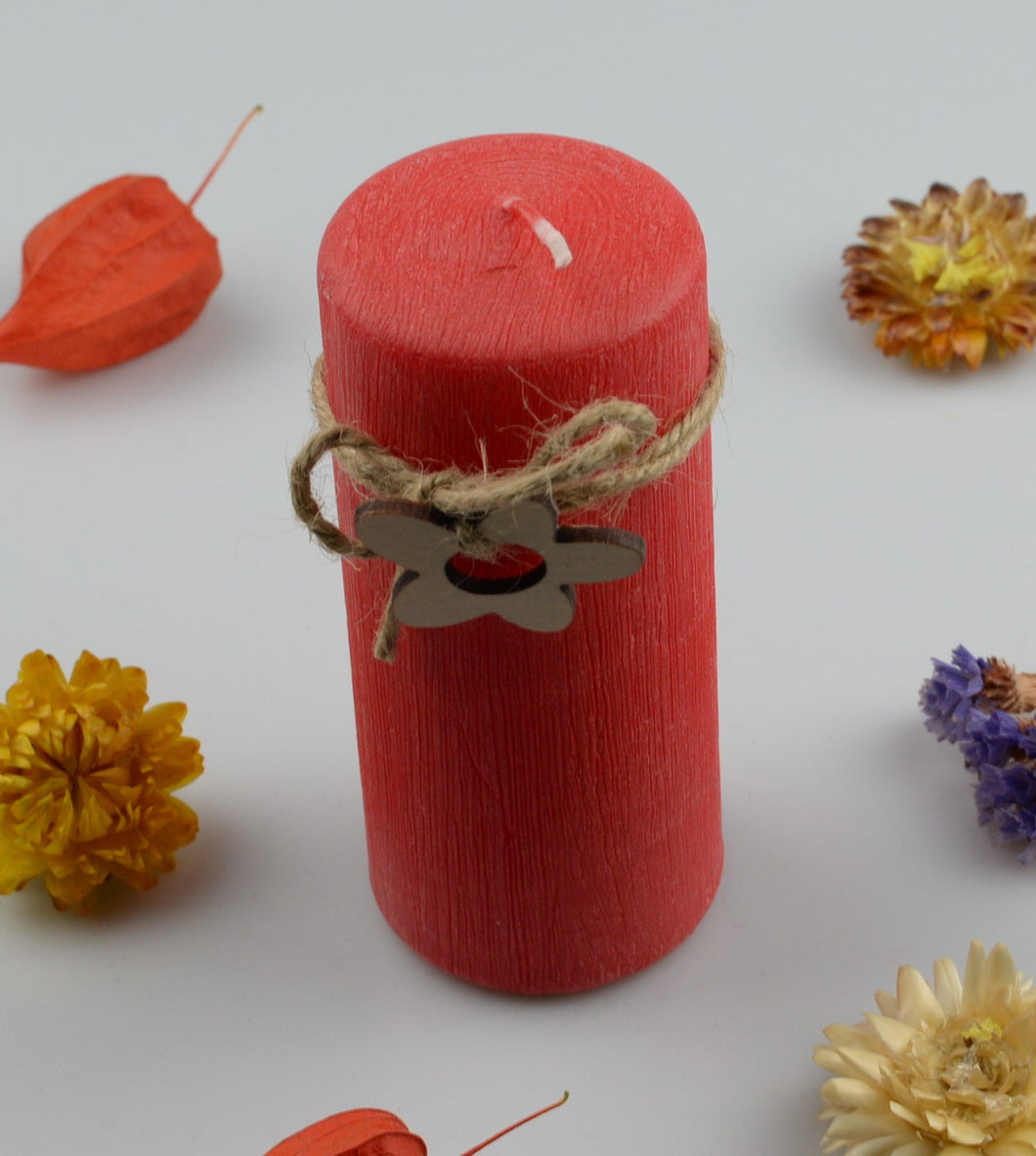 Candle cylinder - 50x120 mm - red