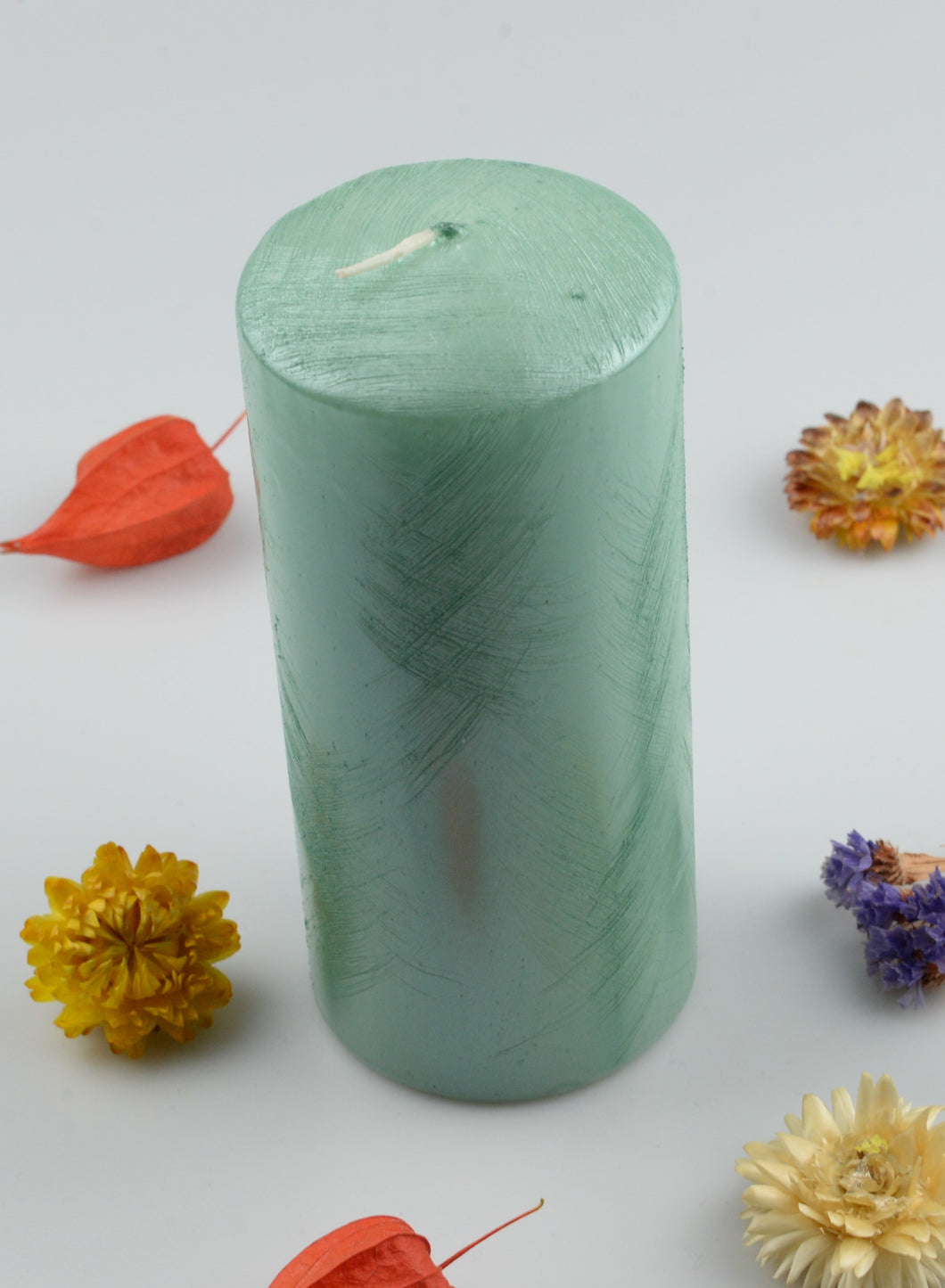 Candle cylinder - 70x160 mm - mint