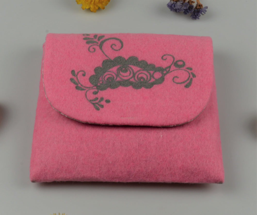 Moravian folk cosmetic bag - pink