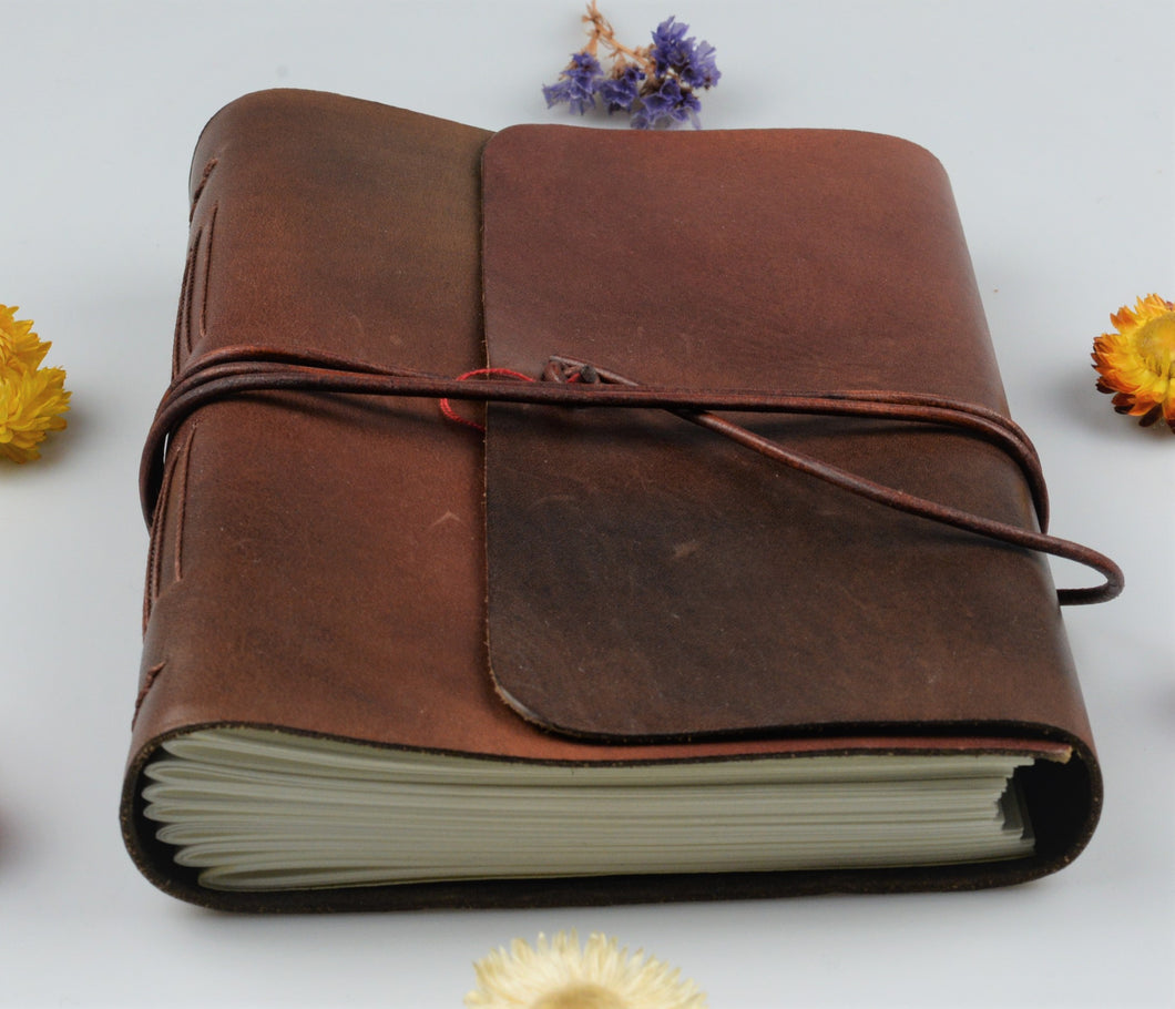 Unique leather notebook