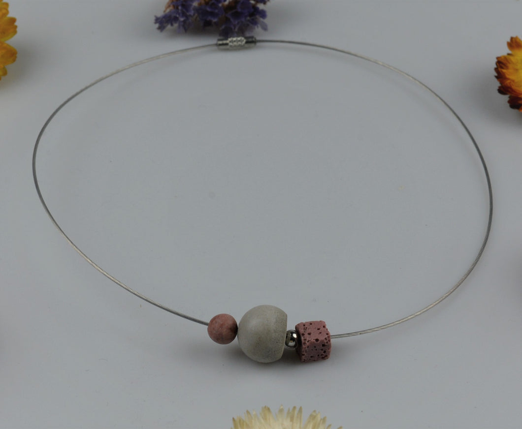 Necklace from concrete pieces