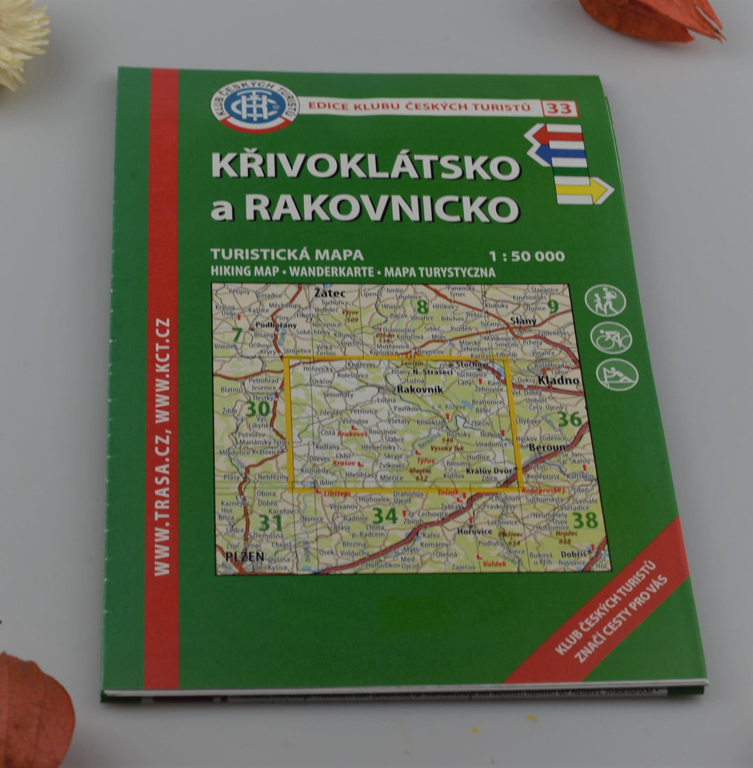 Hiking map - 33 - Region of Křivoklát