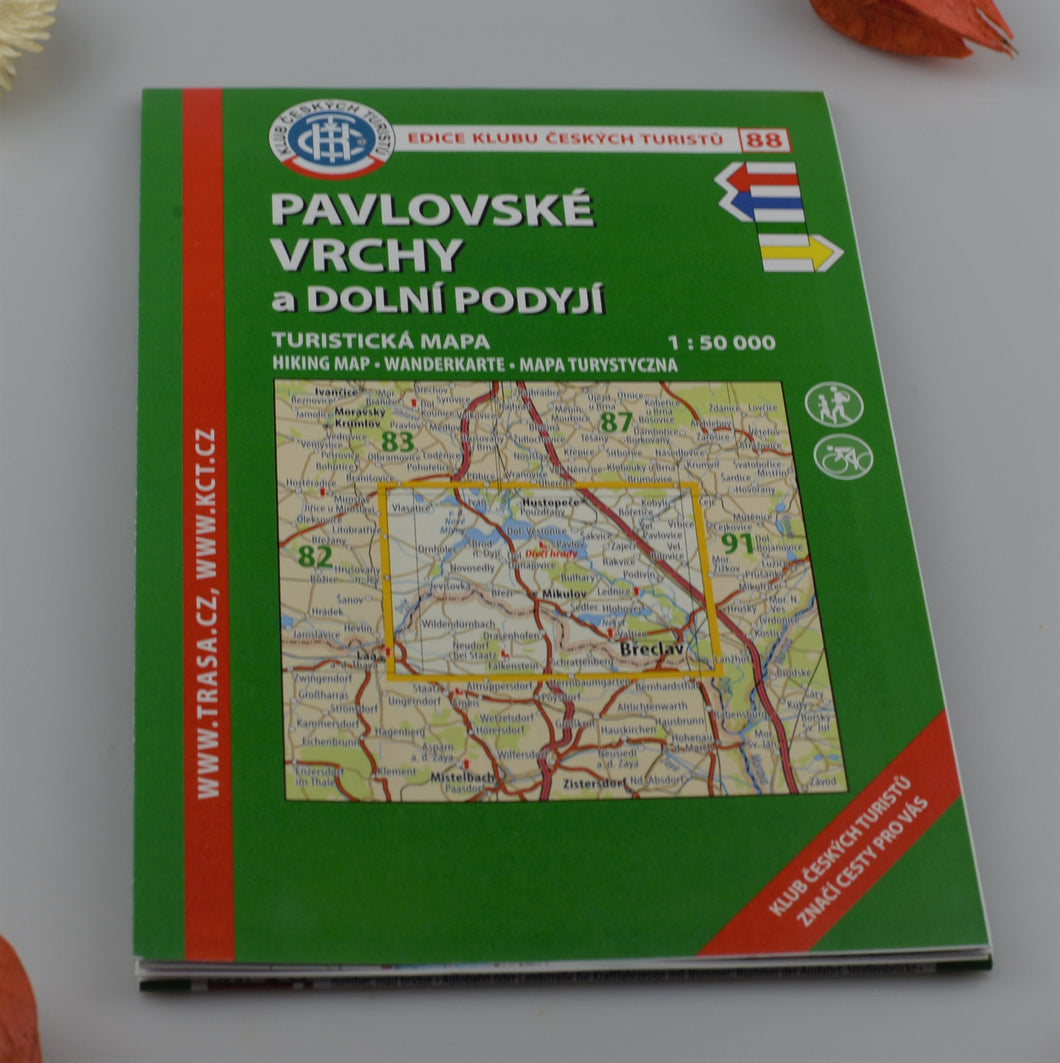 Hiking map - 88 - Lednice and Mikulov region