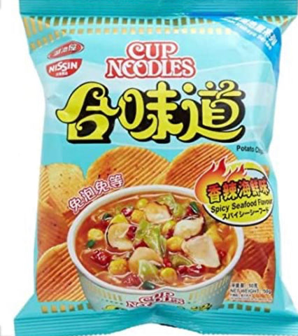 Cup Noodles Spicy Seafood Flavored Chips