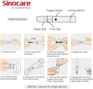 Load image into Gallery viewer, Sinocare Safe AQ Voice Blood Glucose Meter