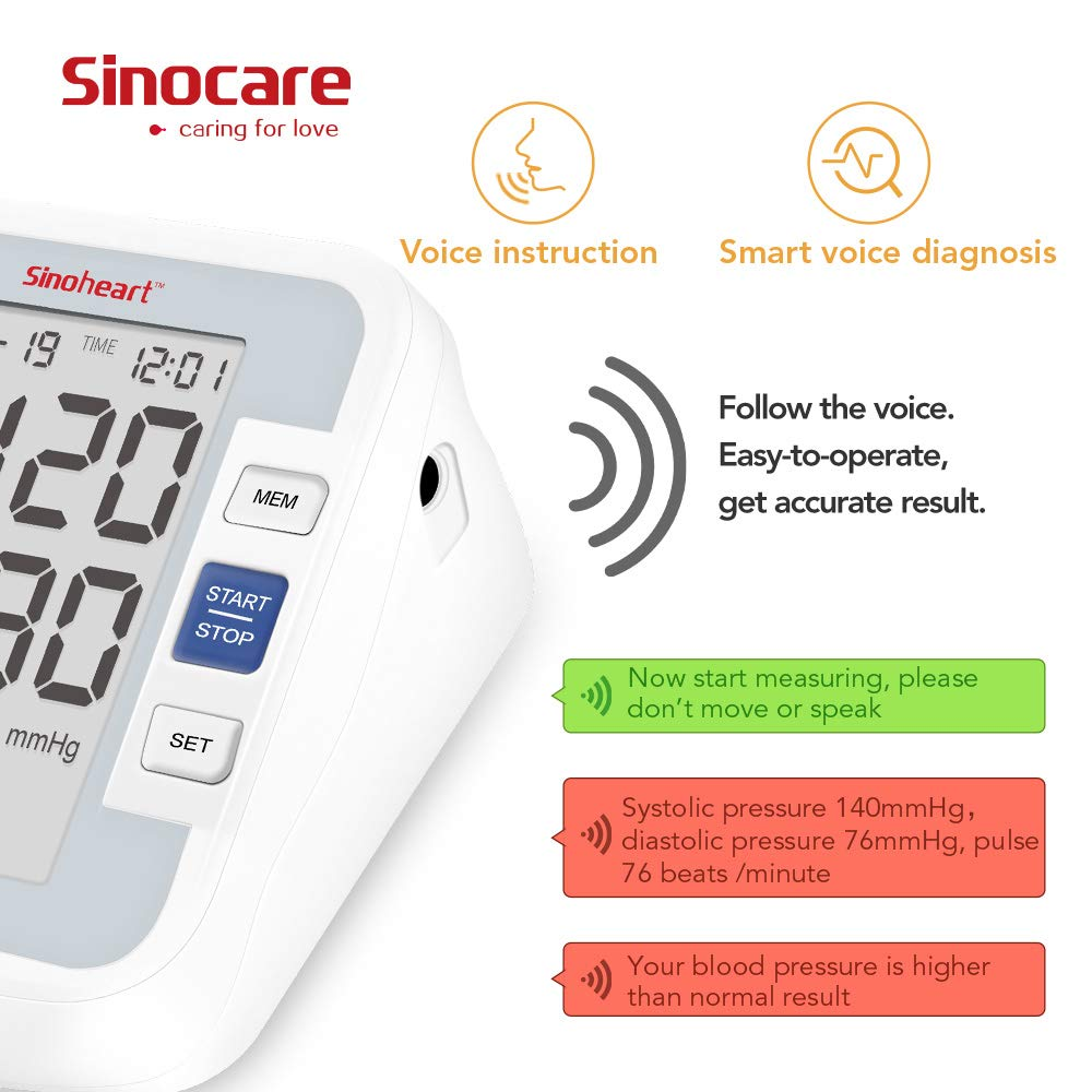 Sinocare smartheart blood pressure monitor
