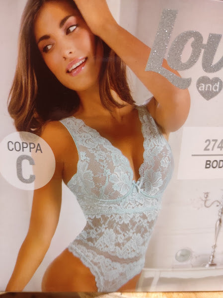 Body in pizzo coppa C - Love and Bra