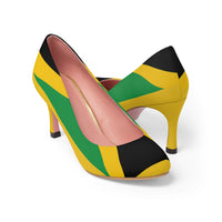 Jamaican Flag Women's High Heels Yellow