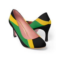 Jamaican Flag Women's High Heels Black