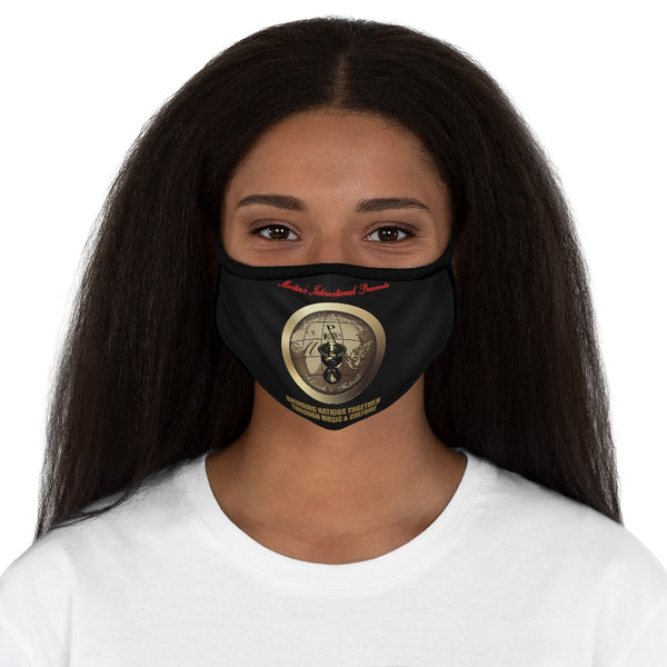 Martin's International Fitted Polyester Face Mask Black