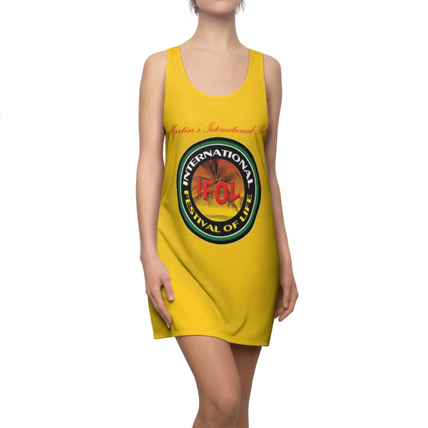 International Festival of Life (IFOL) Women's Cut & Sew Racerback Dress Yellow