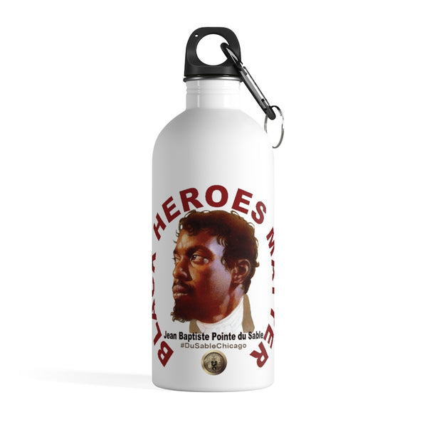 Black Heroes Matter Stainless Steel Water Bottle