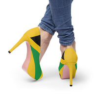 Jamaican Flag Women's Platform Heels Yellow