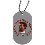 Black Heroes Matter Silver Dog Tag