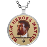 Black Heroes Matter Circle Necklace