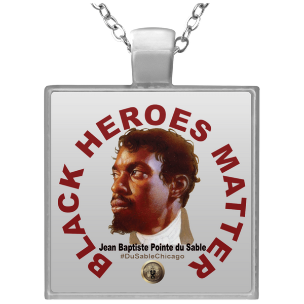 Black Heroes Matter Square Necklace
