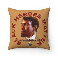 Black Heroes Matter Spun Polyester Square Pillow Gold