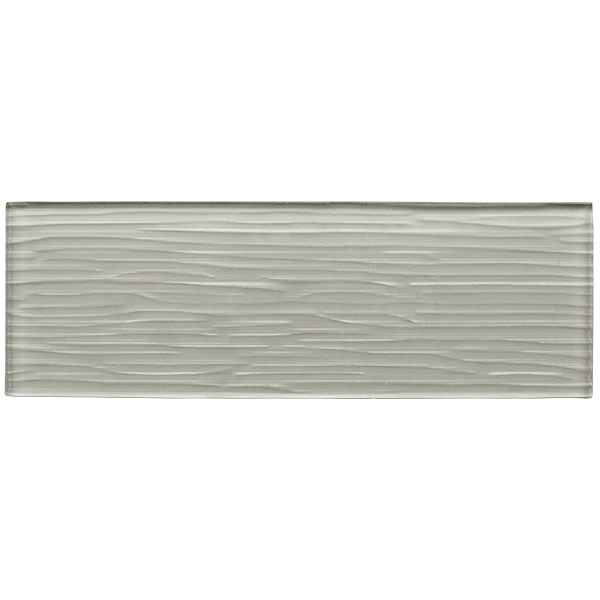 Liberty Silver Grey - Glass Wall Tile - 10 x 30 cm