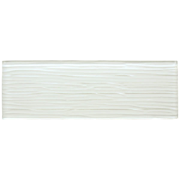Liberty White - Glass Wall Tile - 10 x 30 cm