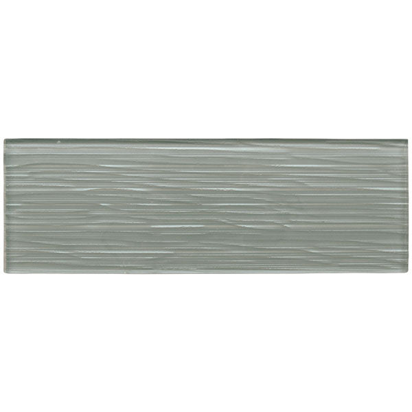 Liberty Zinc Grey - Glass Wall Tile - 10 x 30 cm